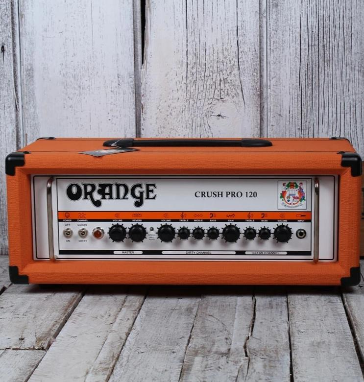 Orange Crush CR120H Electric Guitar Amplifier Head Twin Channel Solid State Amp
