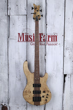 Load image into Gallery viewer, Dean Edge Select Burled Poplar 4 String Electric Bass Guitar Satin Natural