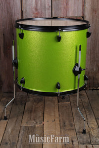 DDrum Rock D2R LIME SPKL Complete Package 4 Piece Drum Set Kit Lime Sparkle
