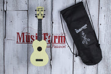 Load image into Gallery viewer, Kala Pale Yellow Matte Soprano Waterman Ukulele KA-SWB-YL Uke with Tote Bag