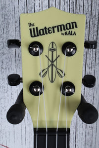Kala Pale Yellow Matte Soprano Waterman Ukulele KA-SWB-YL Uke with Tote Bag