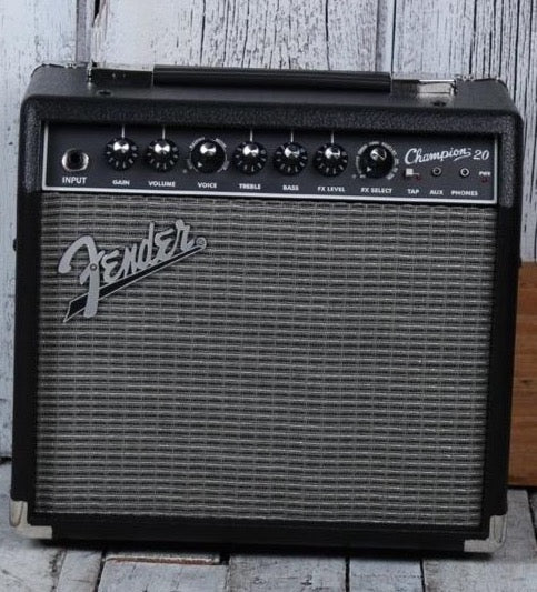Fender® Champion 20 Electric Guitar Amplifier 20 Watt 1 x 8 Combo Practice Amp