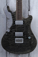 Load image into Gallery viewer, Sozo Z Series Z7TBQ Electric Guitar Trans Black Quilt Maple Top w Hardshell Case
