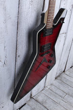 Load image into Gallery viewer, Dean ZX Flame Top Electric Guitar Flame Maple Top Transparent Red ZX FM TRD