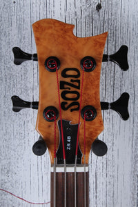 Sozo Z Series Render 4 String Electric Bass Guitar Maple Burl w Hardshell Case