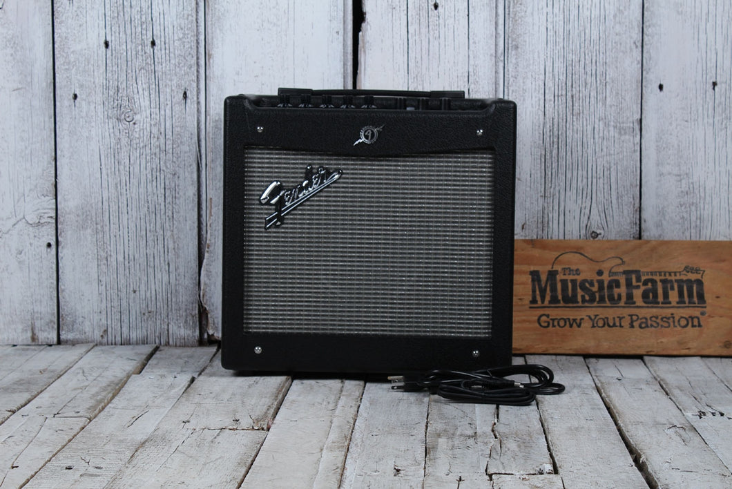 Fender® Mustang 1 Electric Guitar Amplifier 20 Watt Modeling Combo Amp with USB
