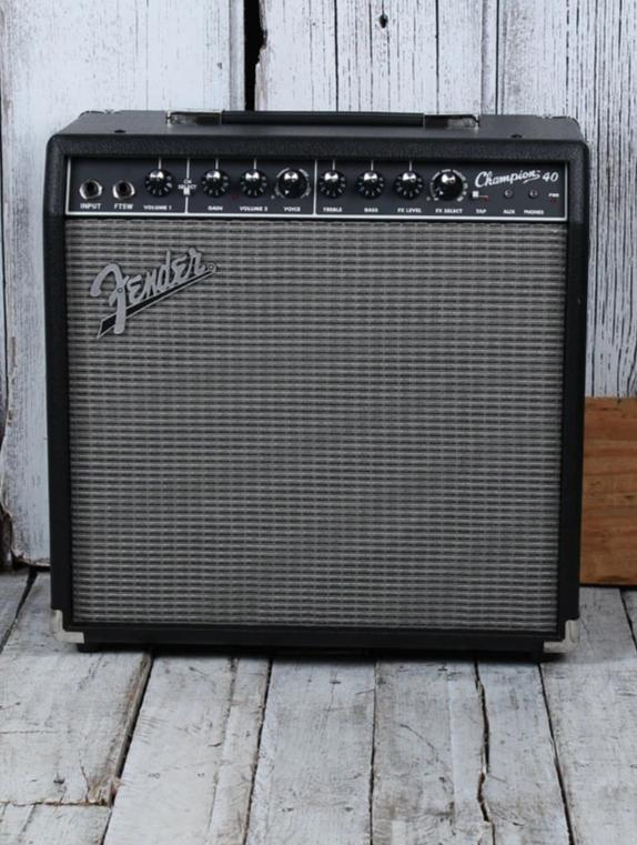 Fender® Champion 40 Electric Guitar Combo Amplifier 2 Channel 40 Watt 1 x 12 Amp