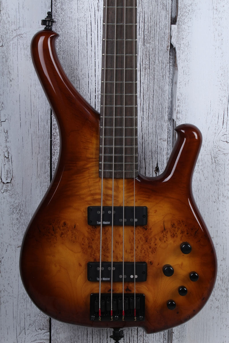 Sozo Z Series Provide 4 String Electric Bass Guitar Violin Burst with Hard Case