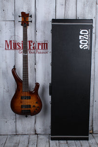 Sozo Z Series Provide 4 Bass Guitar Violin Burst with Case Burl Top 5 Piece Neck