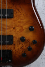 Load image into Gallery viewer, Sozo Z Series Provide 4 Bass Guitar Violin Burst with Case Burl Top 5 Piece Neck