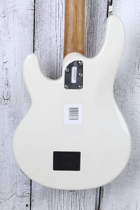 Ernie Ball Music Man StingRay Special 4H Electric Bass Guitar Ivory White w Case