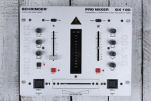 Load image into Gallery viewer, Behringer DX 100 Professional DJ Mixer Dual Input Channels 4 Stereo Sources