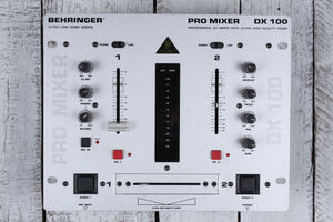 Behringer DX 100 Professional DJ Mixer Dual Input Channels 4 Stereo Sources