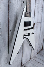 Load image into Gallery viewer, Sozo Z Series ZVW Flying V Electric Guitar White w Black Bevel w Hardshell Case