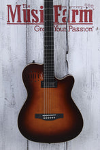 Load image into Gallery viewer, Godin A6 Ultra Baritone Acoustic Electric Guitar Burnt Umber with Gig Bag BLEM