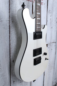 Sozo Z Series ZWBKV2 Double Cut Electric Guitar Pearl White with Hardshell Case