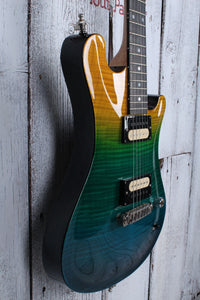 Sozo American Custom Aqua Fade Electric Guitar Flame Maple with Hardshell Case