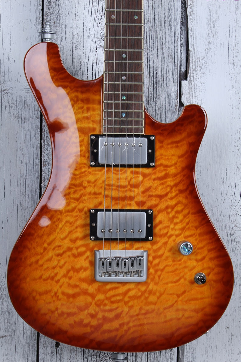 Sozo Z7 Electric Guitar Quilt Maple Top Honeyburst with Hardshell Case Z7HBQV2