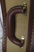 Load image into Gallery viewer, Stagg Baritone Ukulele Hardshell Case Vintage Tweed w Gold Hardware GCX-UKB-GD