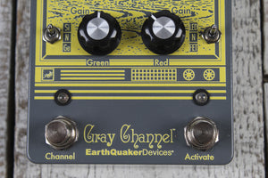 EarthQuaker Gray Channel Dynamic Dirt Doubler Overdrive Guitar Effects Pedal
