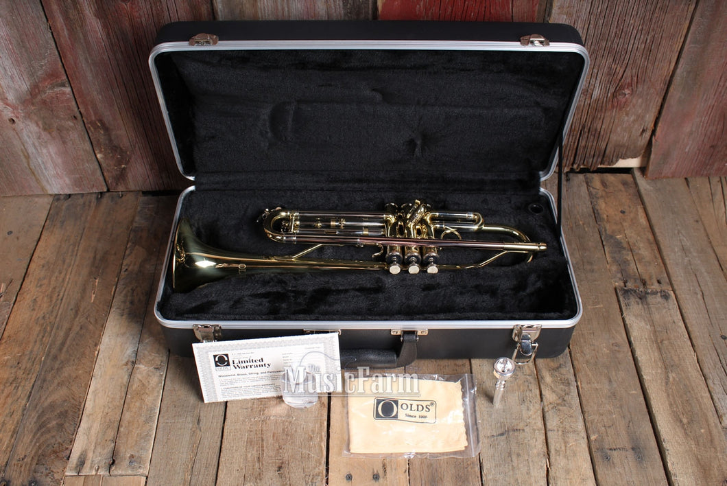 FE OLDS Student Brass Trumpet Medium Weight Model NTR110PC with Hardshell Case