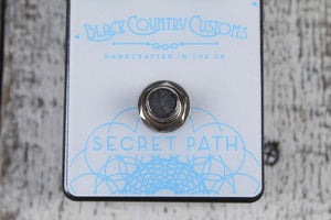 Laney Black Country Customs Secret Path Electric Guitar Reverb Pedal with Cables