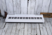 Load image into Gallery viewer, Yamaha P-121 Graded Hammer 73 Key Digital Piano w Sustain & Power Supply White