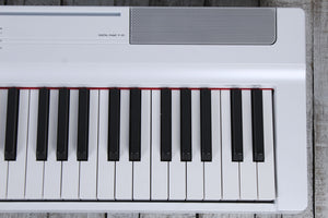 Yamaha P-121 Graded Hammer 73 Key Digital Piano w Sustain & Power Supply White