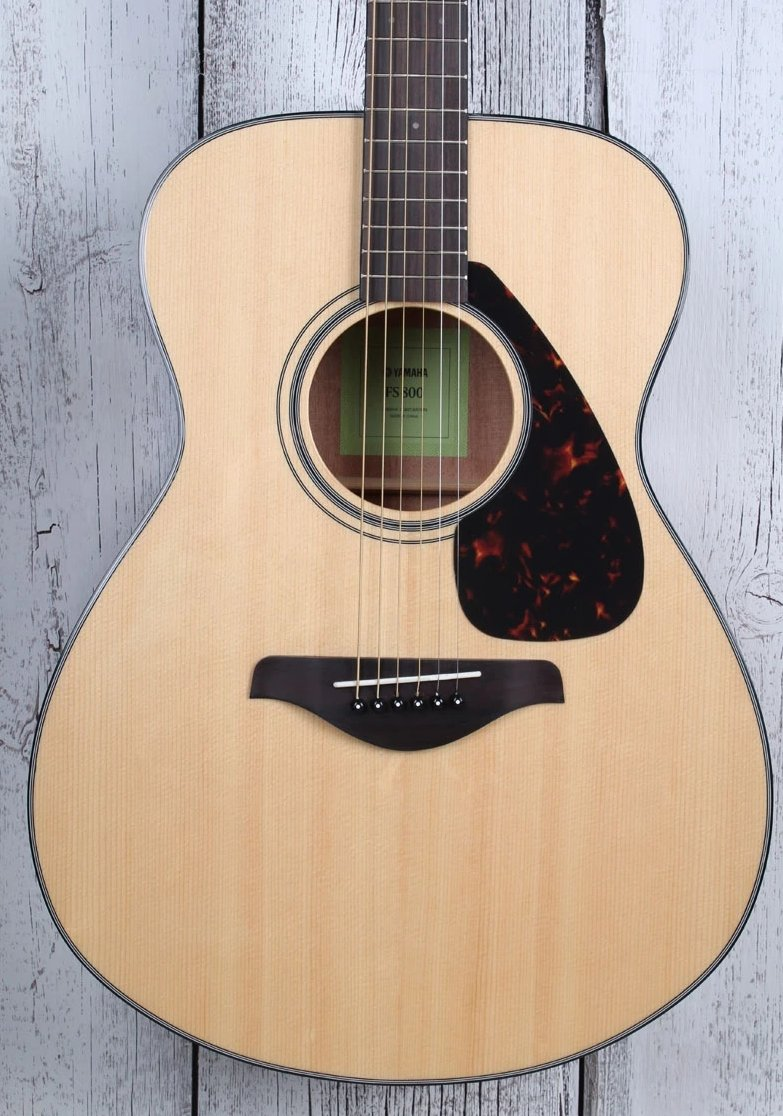 Yamaha FS Series FS800 Concert Body Acoustic Guitar Solid Spruce Top Natural