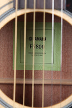 Load image into Gallery viewer, Yamaha FS Series FS800 Concert Body Acoustic Guitar Solid Spruce Top Natural