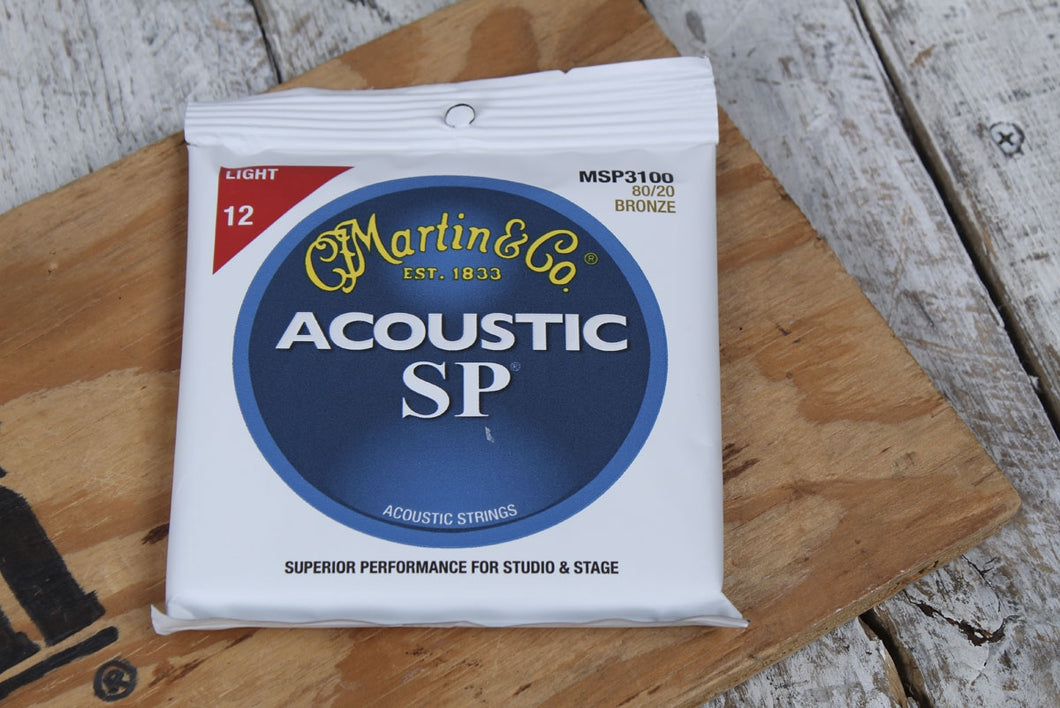 Martin MSP3100 SP Light Acoustic Guitar Strings 80/20 Bronze 12 to 54