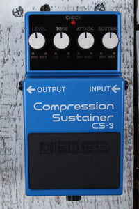 Boss CS-3 Compression Sustain Electric Guitar Effects Pedal with FREE Cables