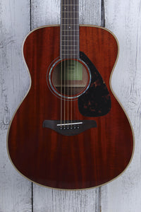 Yamaha FS850 Concert Body Acoustic Guitar Solid Mahogany Top Natural Gloss