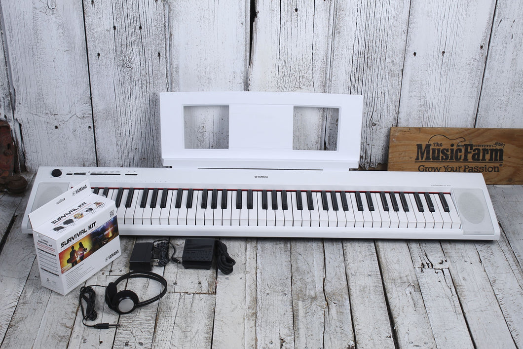 Yamaha NP-32 Piaggero 76 Key Graded Soft Touch Keyboard w Power Supply & Sustain