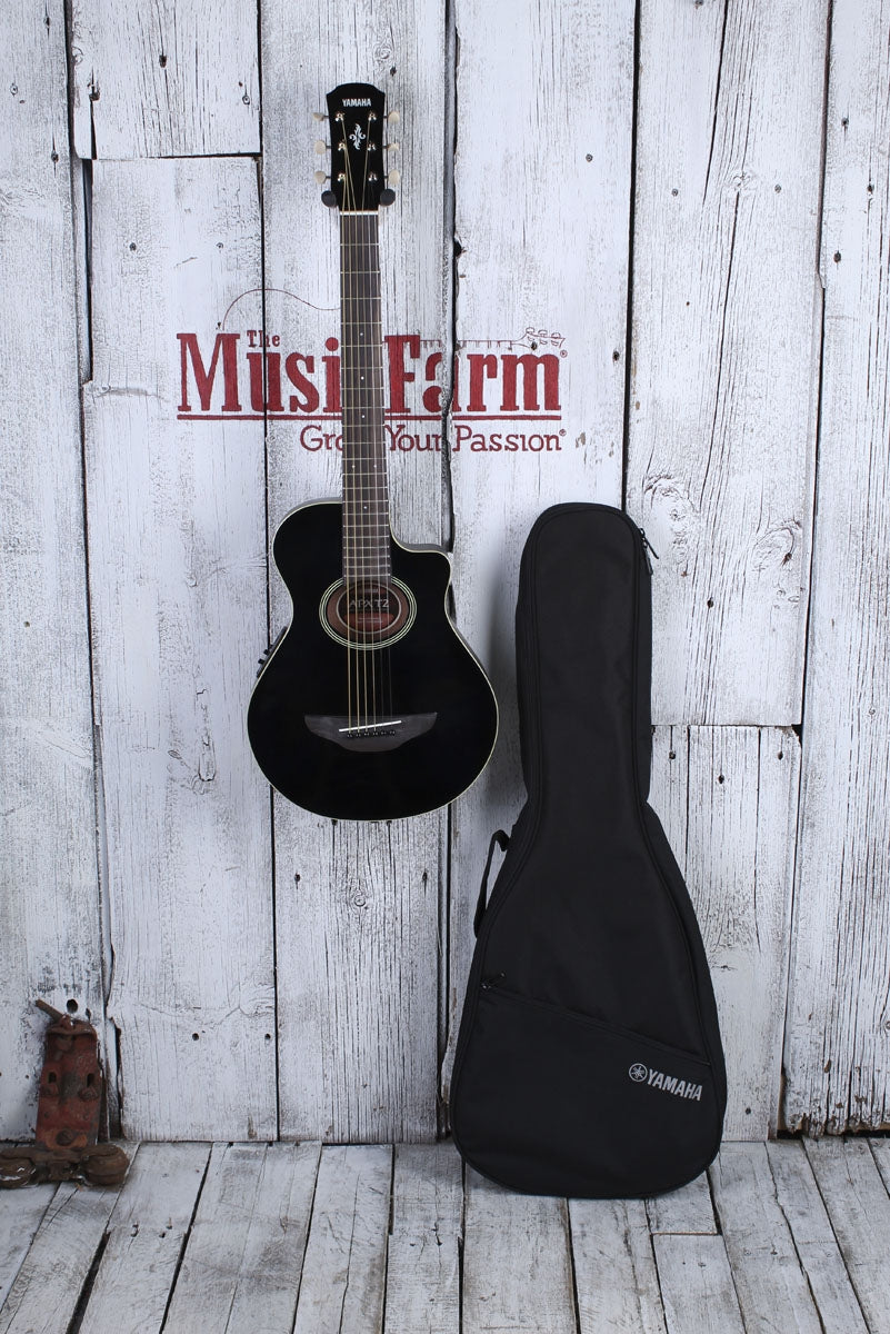 Yamaha 3/4 Travel Size Acoustic Electric Guitar Black APXT2 BL with Gig Bag