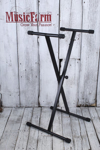 On Stage KS7190 Classic Single X Metal Keyboard Stand Adjustable Height & Width