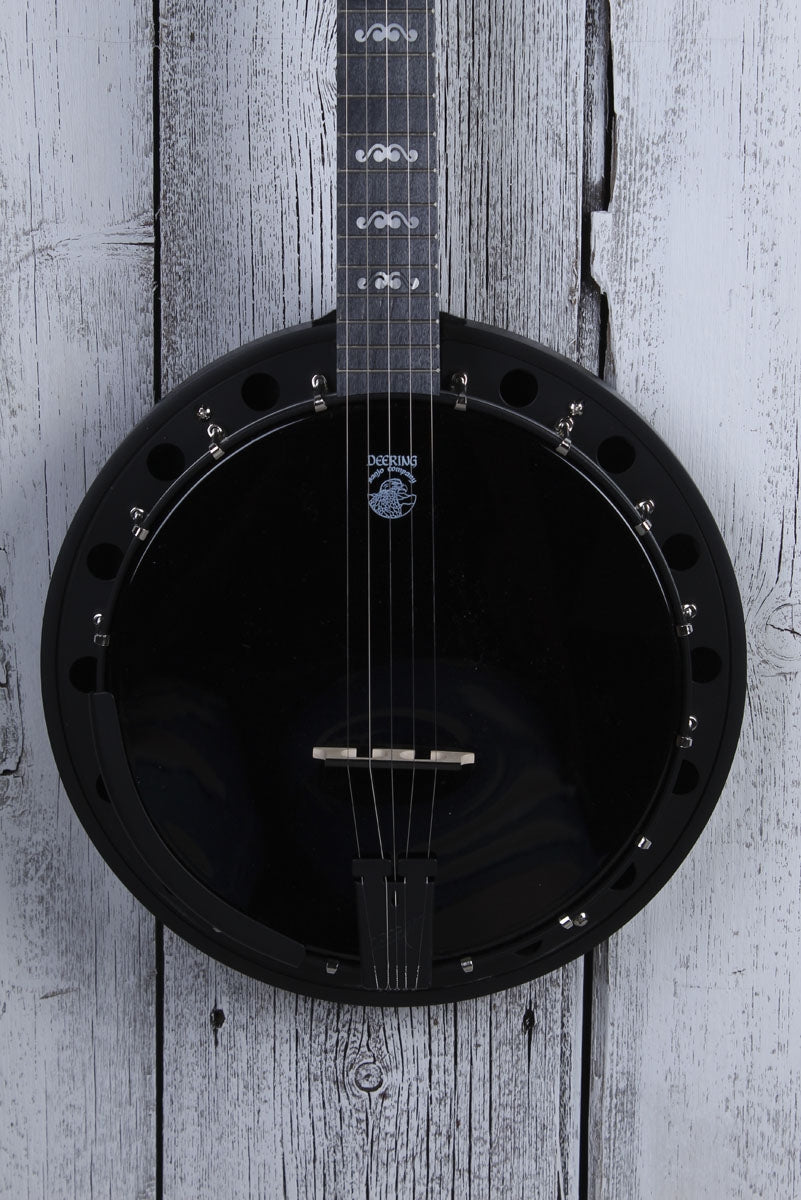 Deering Goodtime Blackgrass 5 String Resonator Banjo Black Satin Made in the USA