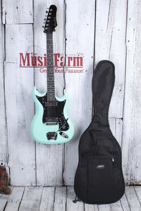 Hagstrom H-II Electric Guitar Retroscape Series H2 Aged Sky Blue w Gig Bag DEMO