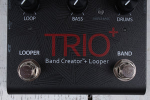 Digitech Trio Plus Band Creator Pedal with Power Supply