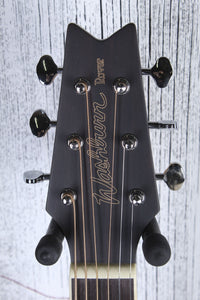 Washburn RO10 Travel Rover Steel String Acoustic Guitar Black with Gig Bag DEMO