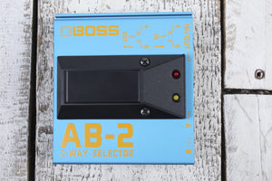 Boss AB-2 2 Way Selector Pedal Electric Guitar Footswitch with Silent Switching