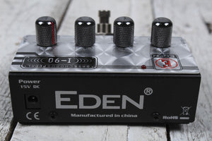 Eden I90 Professional Chorus Electric Bass Guitar Effects Pedal w Power Supply