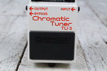Load image into Gallery viewer, Boss TU-3 Chromatic Tuner Electric and Bass Guitar Effects Pedal w FREE Cables