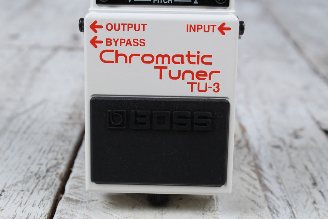 Boss TU-3 Chromatic Tuner Electric and Bass Guitar Effects Pedal w FREE Cables