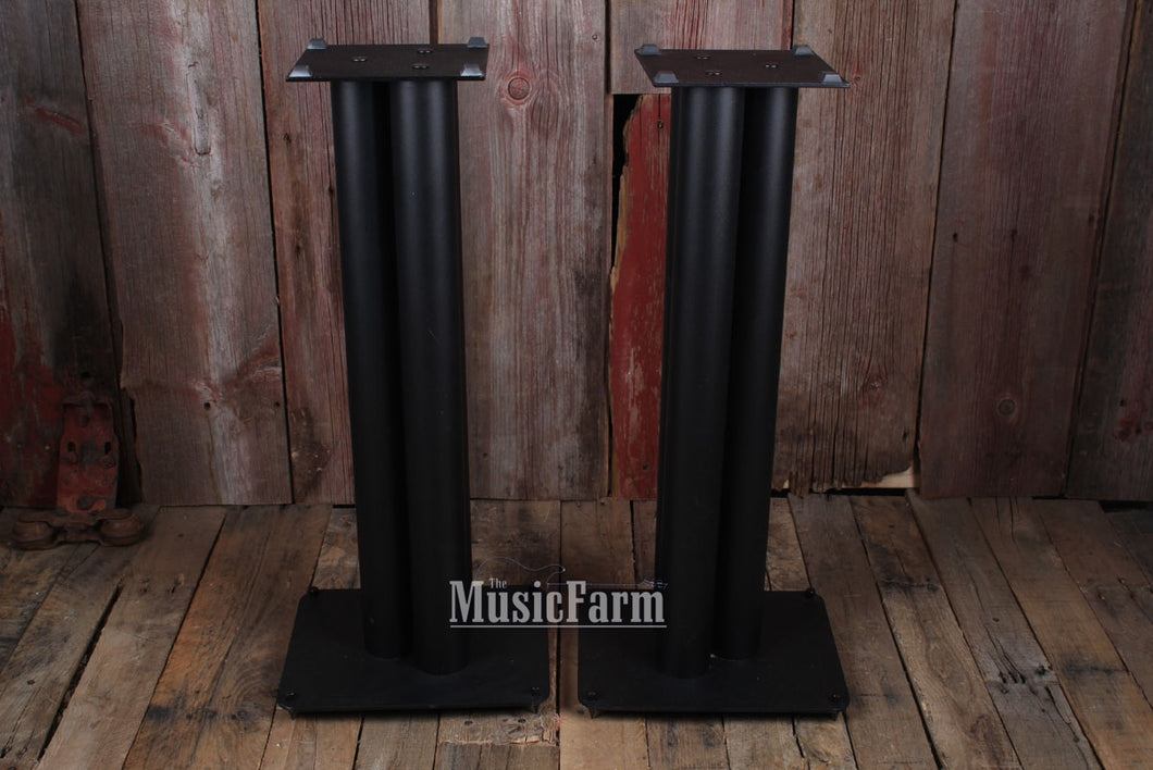 Used Audiophile Black Metal Monior Stands - pair