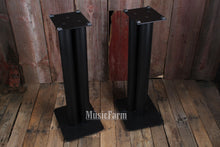 Load image into Gallery viewer, Used Audiophile Black Metal Monior Stands - pair