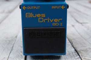 Boss BD-2 Blues Driver Overdrive Electric Guitar Effects Pedal with FREE Cables