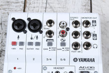 Load image into Gallery viewer, Yamaha AG06 6 Channel Mixer with USB Audio Interface Streaming and Webcasting