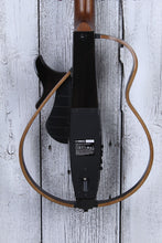 Load image into Gallery viewer, Yamaha Steel String Silent Acoustic Electric Guitar SLG200S TBL with Gig Bag