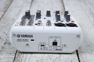 Yamaha AG06 6 Channel Mixer with USB Audio Interface Streaming and Webcasting